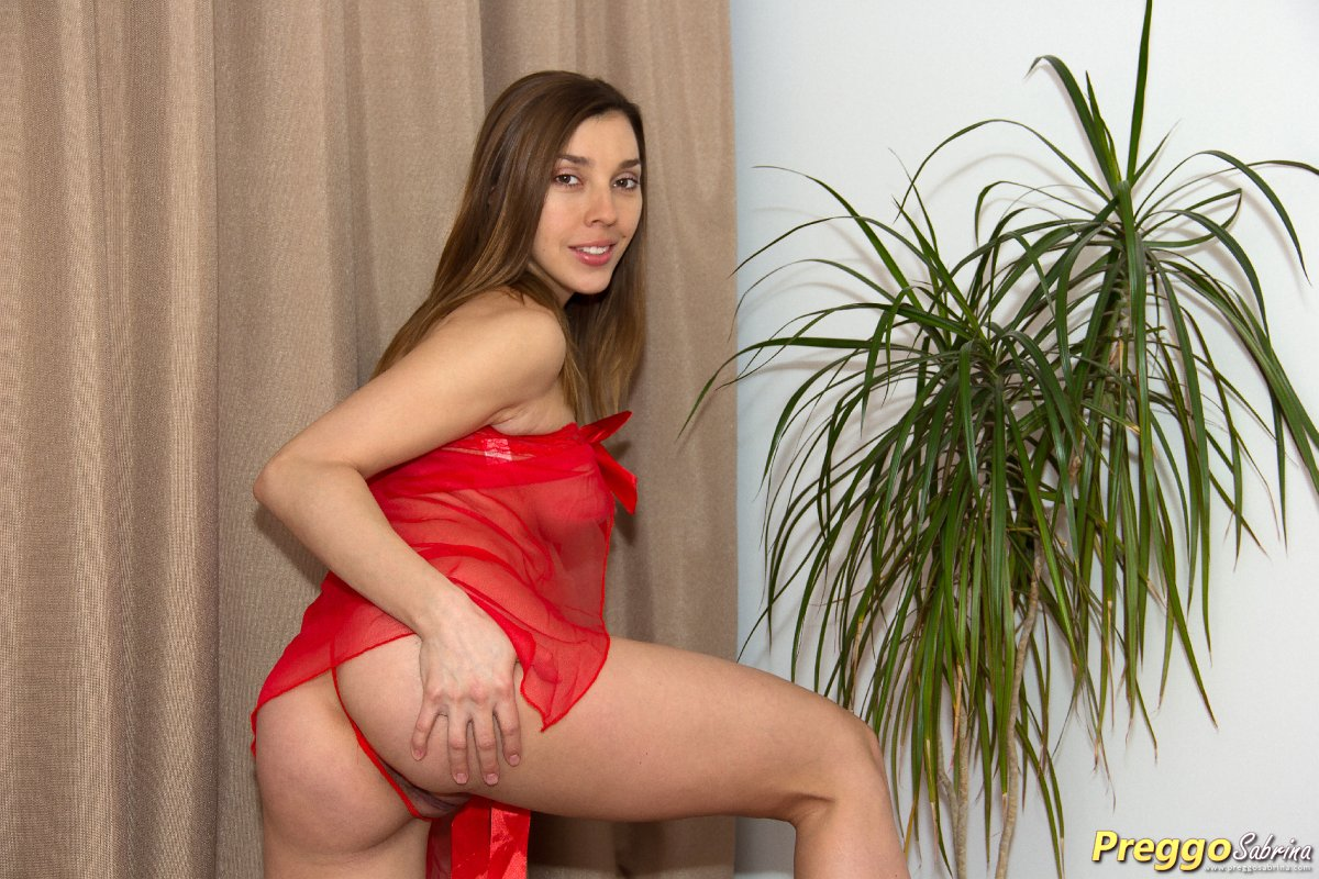 pregnant girl showing ass in thongs